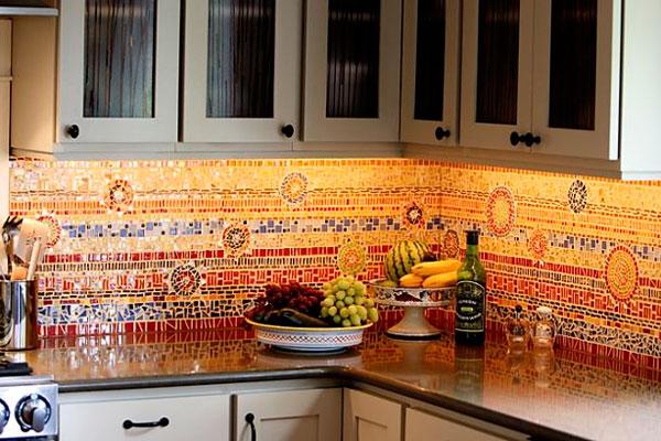 Сложный мозаичный орнамент для фартука