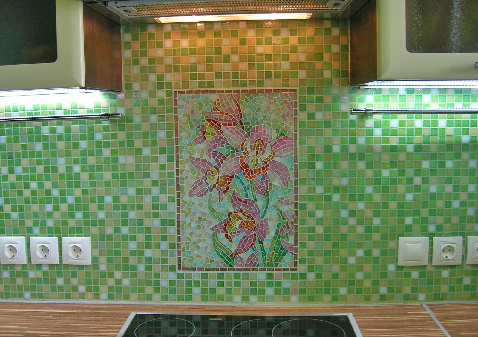 Мозаика фартука кухни своими руками