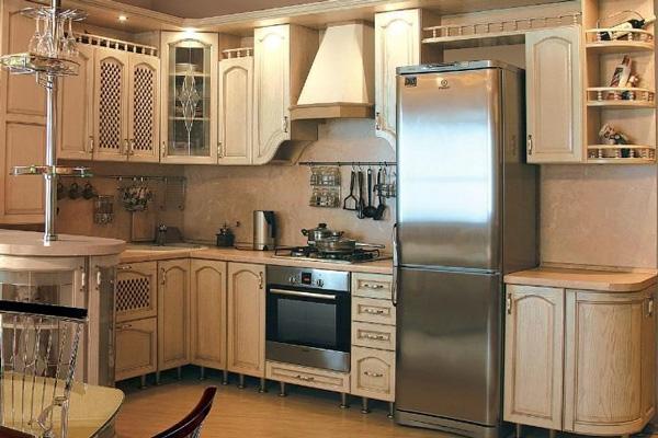 Стильный дизайн кухни из МДФ