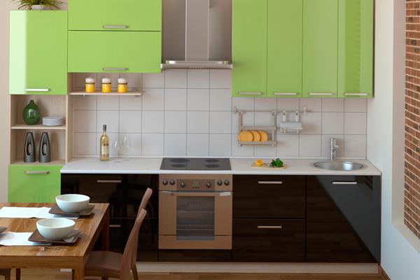 Стиль модерн для компактной кухни