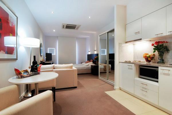 Дизайн кухни и гостиной в едином стиле