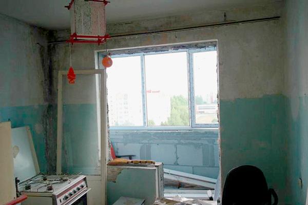 Утепление балкона при совмещении с кухней