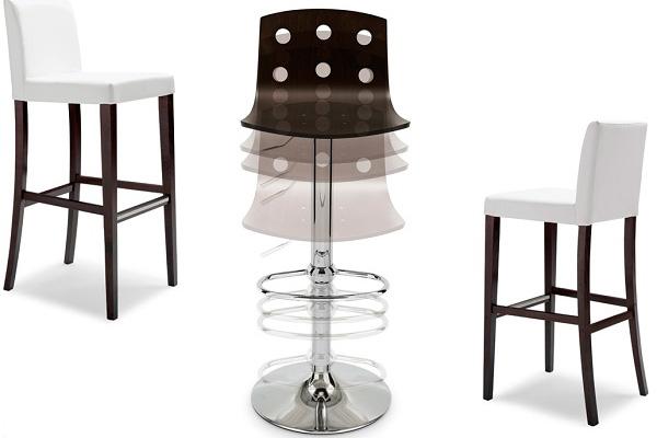 Полубарные стулья: деревяные и металлические регулируемые