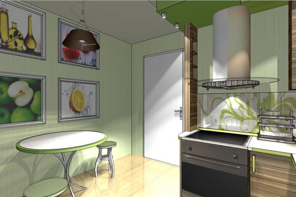 Визуальный дизайн-проект кухни