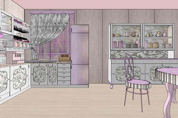 Дизайн кухни в стиле шебби шик