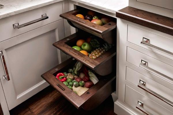 Деревянные ящики для хранения овощей в квартире