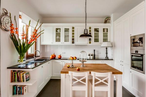 Красивая кухня – маленький уютный семейный островок