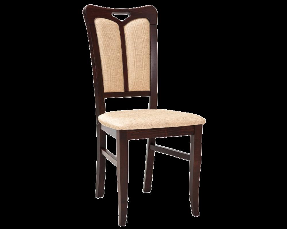 Деревянный мягкий стул со спинкой